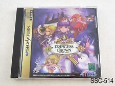 Princess Crown Sega Saturn SS Japanese Import Atlus JP Japan US Seller C/Fair
