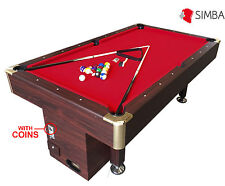 7 Ft Pool Table Billiard Playing Cloth with coin machine for public places Ares