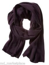 NWT BANANA REPUBLIC Vineyard Plum Purple Textured Stitch Cashmere Blen Scarf $79