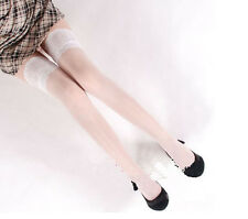 Sexy Ladies Sheer Lace Top Stay Up Stockings Thigh High Pantyhose Hold-up Tights