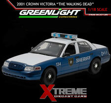 "GREENLIGHT 12957 1:18  2001 CROWN VICTORIA POLICE INTERCEPTOR ""THE WALKING DEAD"""