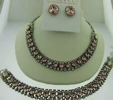 Sorrelli Satin Blush Necklace Earrings Bracelet Set NCN5ASSBL EBX10 BCN5