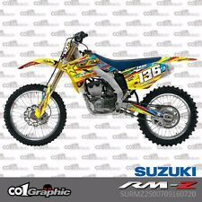 GRAPHICS DECALS STICKERS FULL KIT FOR SUZUKI RMZ 250 2007-2009