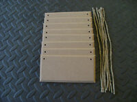 "8 X MDF 5"" X 3""  WOODEN SIGN PLAQUES WITH OR WITH OUT HOLES BLANKS + JUTE STRING"