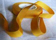 GROS GRAIN RUBAN GALON JAUNE (bouton d'or)  largeur 15  VENDU PAR 3 M -GG9-