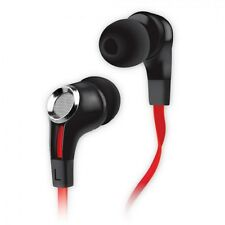 New NoiseHush NX85 Stereo 3.5mm Headset w/ Mic - Noise Isolation - Black/Red