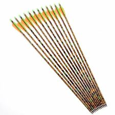 "12pcs 30"" Camouflage Aluminum Arrows 8.8mm Shaft for Compound Bow & Long Bow"