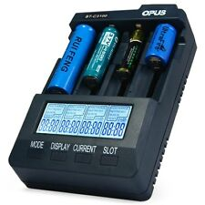 Opus BT-C3100 V2.2 smart Digital Intelligent 4 Slots LCD Battery Charger US Plug