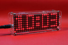 Dot Matrix Clock digital display electronic SCM alarm clock time led Temperature