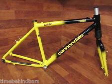 "ORIGINAL VINTAGE CANNONDALE F3000 HEAD SHOK FATTY SI 26"" MTB FRAMESET LARGE 17"""
