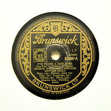 "GEORGE WETTLING'S RHYTHM KINGS ""I've Found A New Baby"" (EE+) BRUNSWICK [78 RPM]"