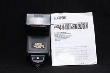 SUNPAK AUTO 444D WITH CANON CA-3D MODULE +TTL COILED CORD