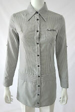 Elegant Japan CECIL McBEE Long Sleeve Shirt Top Black White Striped