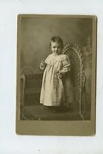 CABINET CARD,Vintage Photo, Baby on Wicker Chair, Wisconsin