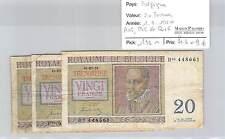 3 BILLETS BELGIQUE - 20 FRANCS - 1.7.1950 - A06 / P06 / R06