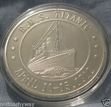 TITANIC Silbermünze Film Medaille Ocean Cruise Futter Schiff Boot Sea London NYC