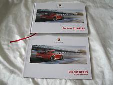 2015 Porsche 911 GT3 RS Hardcover Brochure SET Prospekt Catalogue GERMAN 991