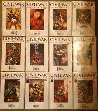 MARVEL COMIC CIVIL WAR CHRONICLES FULL RUN SET 1 - 12 spider-man captain america