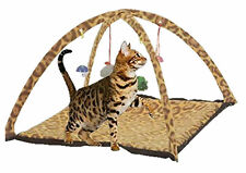 Cat Tent Lovely Leopard Print Cat Play Mat Tent With Hanging Toys