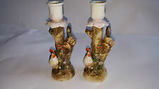 CONTA & BOEHME Pair of Cockerel Candlesticks - Late 19th Century
