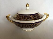 "** bellissima ** Minton ""T GOODE & CO"" COBALT BLUE & GOLD Lidded Serving tureen"
