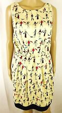 Tsumori Chisato Womens Large Ivory Dog Walking Umbrella Dress