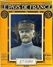 Portrait Général  Division Charles Marie Édouard Nollet/Zeppelin Alpes 1917 WWI