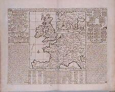 Antique map, Carte pour l'intelligence de l'histoire d'Angleterre