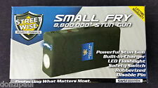 Streetwise 8,800,000 Small Fry Black Stun Gun Flashlight w/Holster Rechargeable