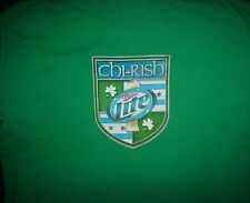 MILLER Lite Beer Chicago Irish When The River Runs Green Promo Large L T SHIRT