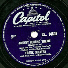 1956 FRANK SINATRA 78 JOHNNY CONCHO THEME UK CL14607 E-