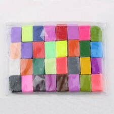 32 Pcs Soft Effect Polymer Clay Plasticine DIY Modelling Craft Art Toys CC