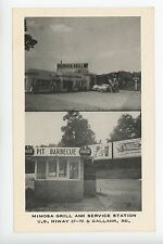 Mimosa Grill & Service Station Kingston TENNESSEE BARBECUE Coca Cola Gas 1930s