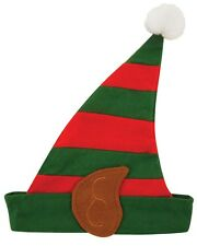 ADULT MENS WOMENS CHRISTMAS PARTY HAT FANCY DRESS COSTUME XMAS ELF HAT.