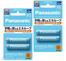 New! 4 Panasonic Eneloop Lite Batteries AA 5000 Times Rechargable Battery 950mAh