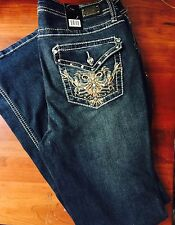Woman's Miss EARL JEAN Bling Me Size 22WRhinestone  Stud  Bootcut Sexy!NWT'S $54