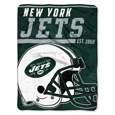 """New NFL New York Jets Soft Micro Rasche Large Throw Blanket 46"""" X 60"""""""