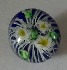 100% handmade lampwork paperweight shape glass button flower design