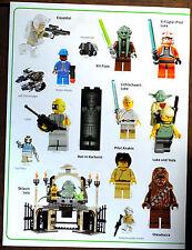 LEGO® Star Wars™ Stickerbogen aus dem großen Stickerbuch 2011 Kit Fisto u.aLEGO.