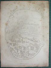 1830 PRINT WEAPONS ARMS & ARMOUR ~ TARGET OF FRANCIS I (1526) VIEW OF BATTLE