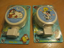 TWEETY BIRD AND BABY TAZ LOONEY TOONS NIGHT LIGHTS - WARNER BROS - FREE SHIPPING