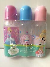 3 (8oz)  Disney Cinderela bottles    New!
