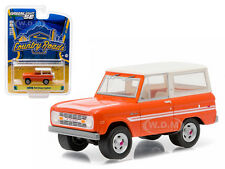 "1976 FORD BRONCO ""EXPLORER PACKAGE"" ORANGE 1/64 DIECAST BY GREENLIGHT 29830 C"