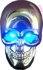 car Van Gear knob Chromed Metal Scull Skull shift stick hot rod retro led eyes