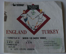 old TICKET * World Cup 1994 q * England - Turkey in London