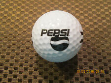 LOGO GOLF BALL-PEPSI..SODA SOFT DRINK..BLACK TEXT...DRIVING RANGE BALL.DIFFERENT