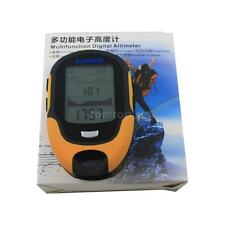 Digital LCD Compass Altimeter Barometer Thermo Temperature Calendar Forecast LED