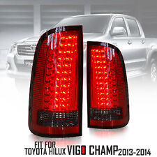 RED-CLEAR BLACK LED TAIL LIGHT LAMP REAR FOR TOYOTA HILUX VIGO CHAMP MK7 11-2015