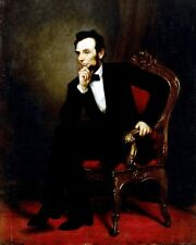 New 8x10 Photo: President Abraham Lincoln Oil-on-Canvas by George Healy