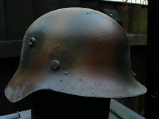 Three Colour Camo M35 Metal  Replica German Helmet